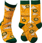 Just Here for the Nachos Adult Crew Socks