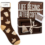 Coffee Box Sign and Sock Set