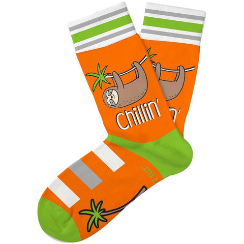 Just Chillin' Sloth Kids Crew Socks