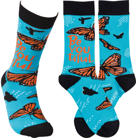 BeYOUtiful Butterfly Adult Crew Socks