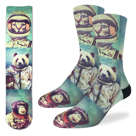 Animal Astronaut Adult Crew Socks