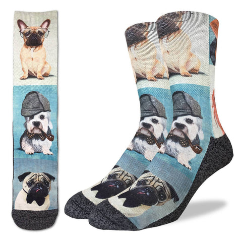 Dashing Dogs Adult Crew Socks
