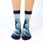 The Great Wave Adult Crew Socks