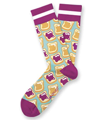PB & J Adult Crew Socks