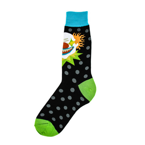 Scary Clown Adult Crew Socks