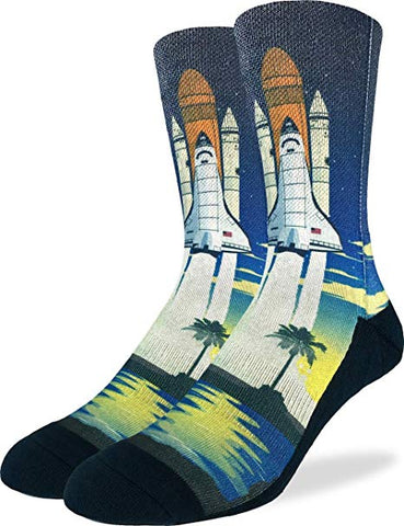 Space Shuttle Adult Crew Socks