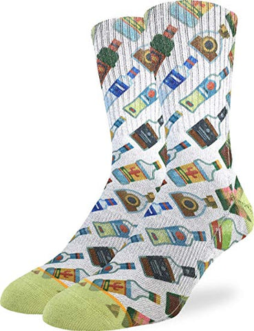 Liquor Bottle Adult Crew Socks