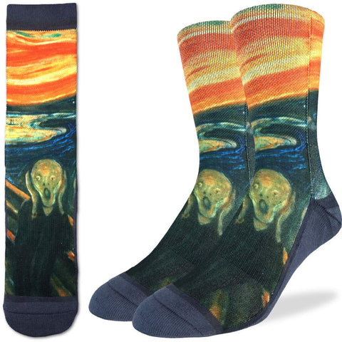 The Scream Adult Crew Socks