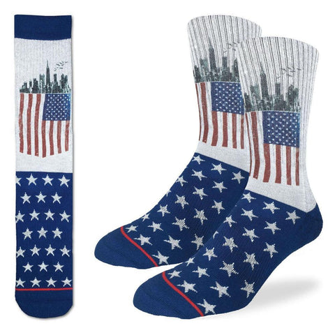 American Flag Adult Crew Socks
