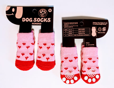 Pink Hearts Socks for Dogs