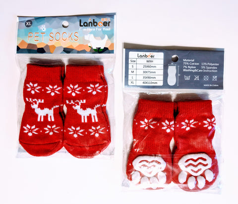 Reindeer Socks for Dogs