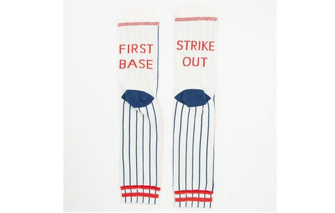 Strike Out Baseball Adult Crew Socks