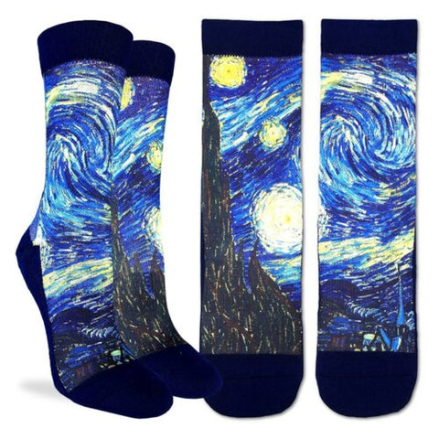 Starry Night Adult Crew Socks