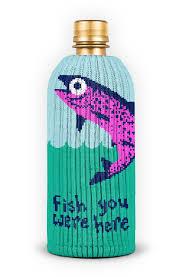 Fish You Were Here Bottle Sock
