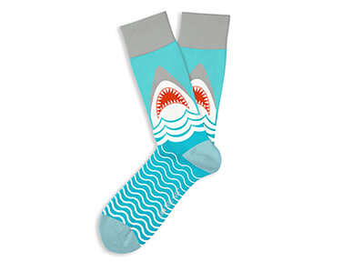 Great White Adult Crew Socks