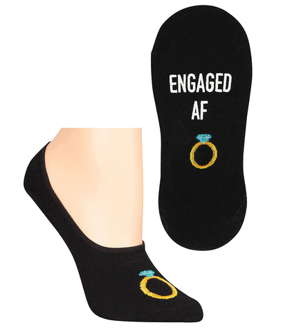 Engaged AF No-Show Women's Socks
