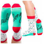 Ride Along Bicycle Adult Crew Socks