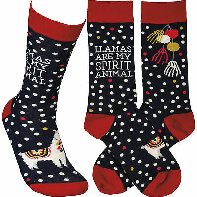 Llama Spirit Animal Adult Crew Sock
