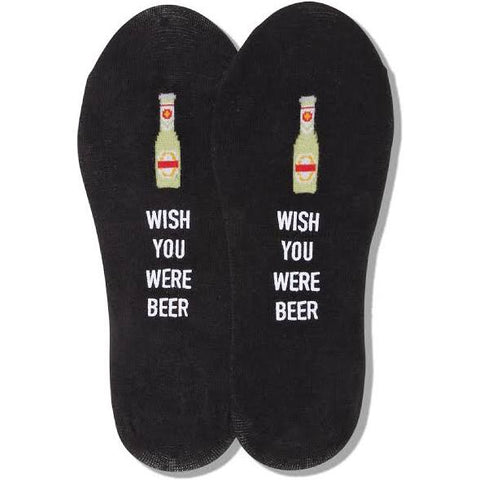 Wish You Were Beer No-Show Men's Socks
