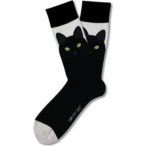 Nine Lives Black Cat Adult Crew Socks