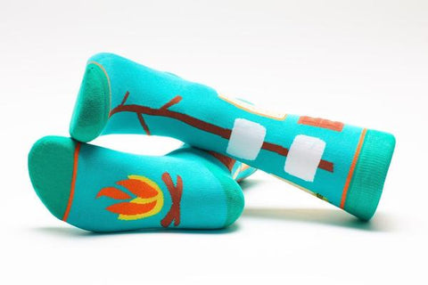 Smores Adult Crew Socks