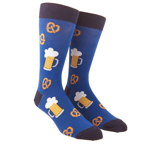 Pretzels and Beer Adult Crew Socks