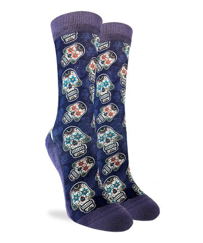 Sugar Skull Adult Crew Socks