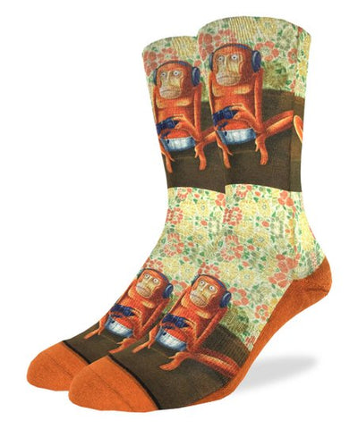 Gaming Monkey Adult Crew Socks