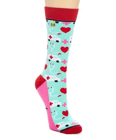 Lifesaver Nurse Adult Crew Socks