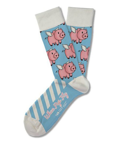 When Pigs Fly Adult Crew Socks
