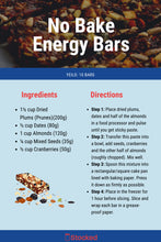 Load image into Gallery viewer, No Bake Energy Bars (Makes 10)