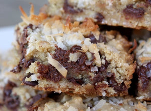 Chocolate Coconut Blondies (Makes 9)