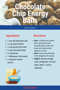 Chocolate Chip Energy Balls (Makes 20)