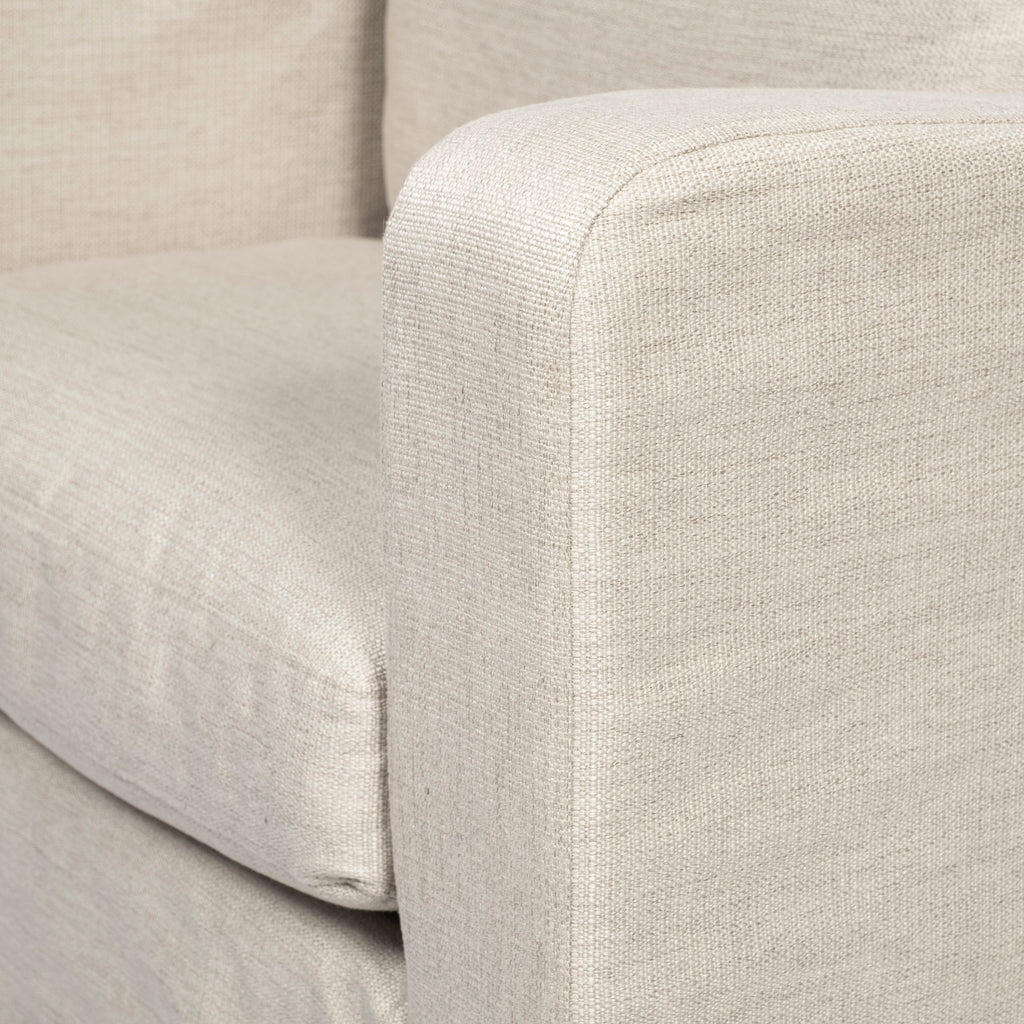 Denly III Cream Slipcover Upholstered Armchair