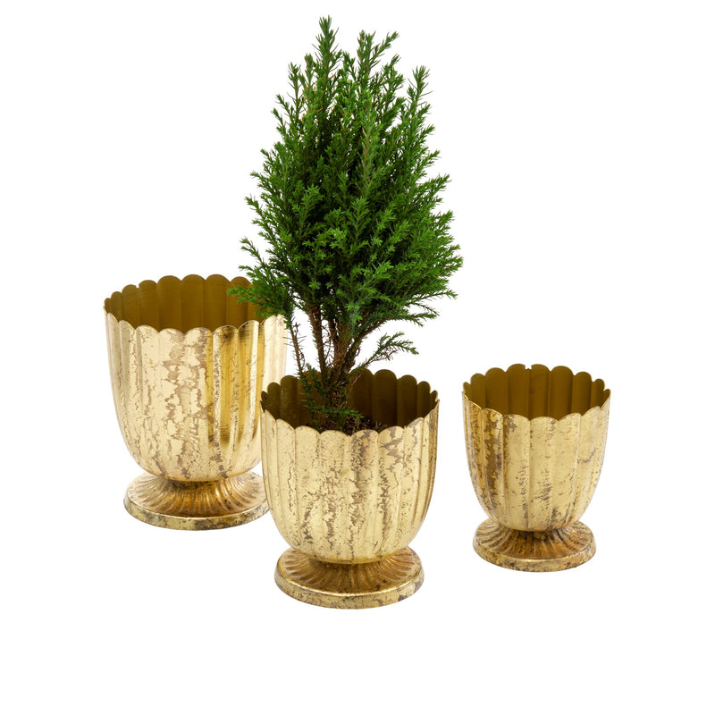 Foralis Metal Mini Urns - Set of 3
