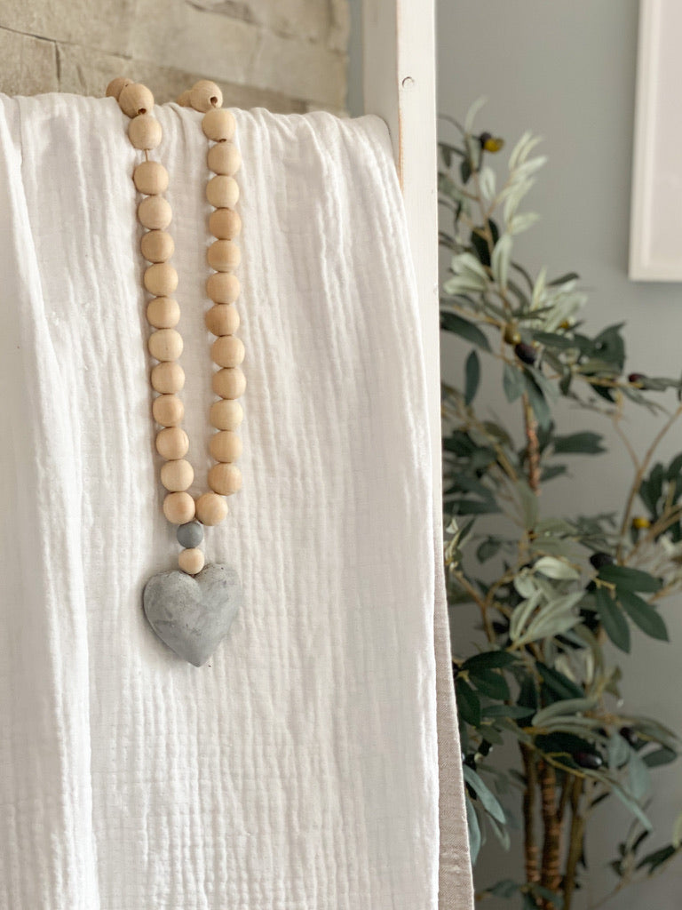 Heart Prayer Beads - Large (Concrete Heart)
