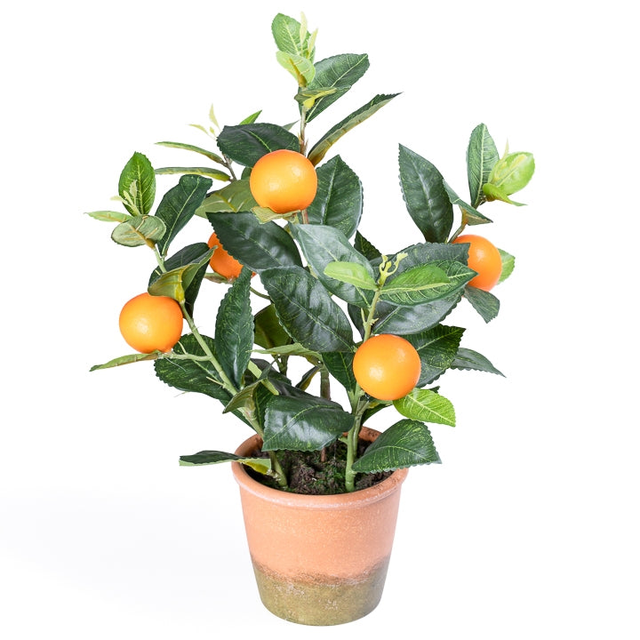 Orchard Mini Faux Orange Tree 16""