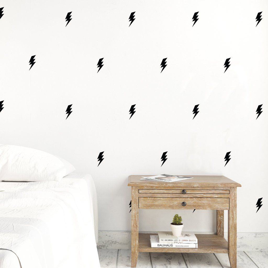 Urban Walls - Yellow Lightning Bolts - Wall Decal