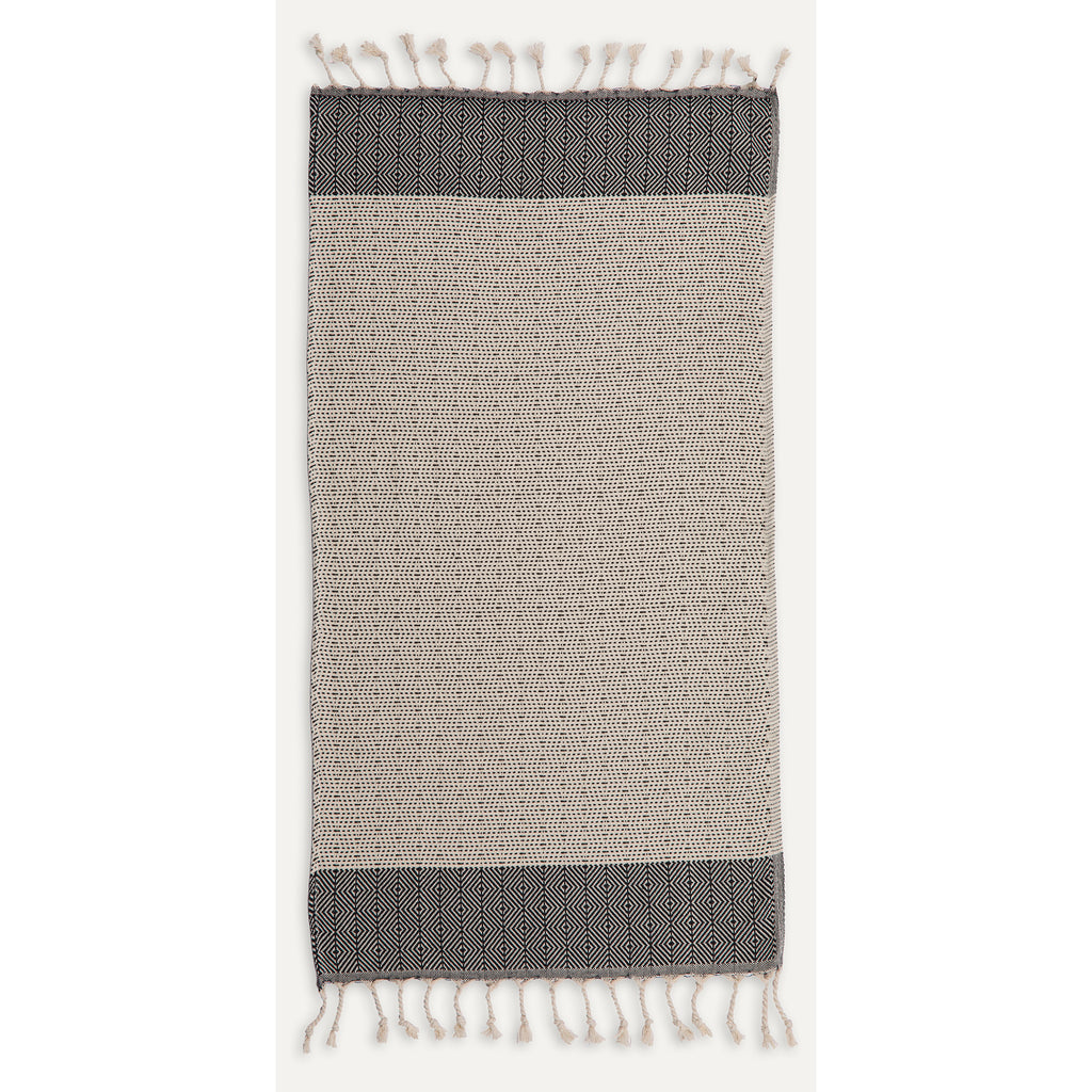 Hand Towel - Lined Diamond