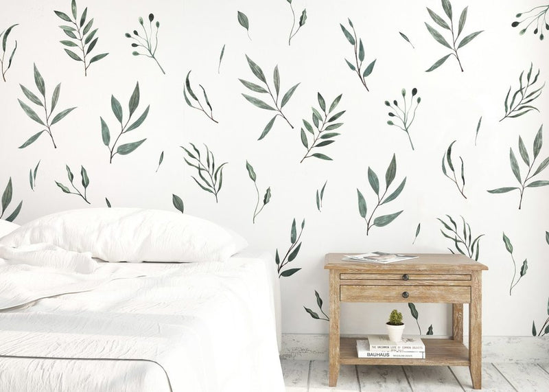 Urban Walls - Watercolour Leaves Wall Decals