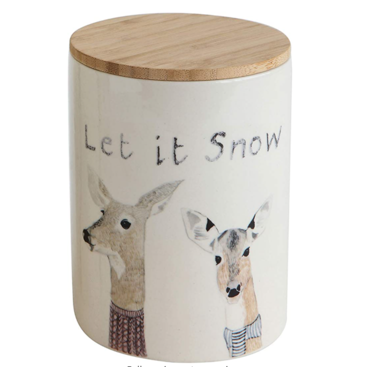 Let it Snow - Stoneware Cannister