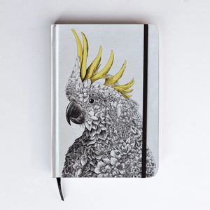 Journal Hardcover A5 - Sulphur Crested Cockatoo
