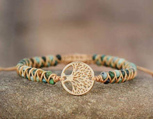Load image into Gallery viewer, The Woven Tree of Life Gemstone Bracelet - Soul Sound Spirited