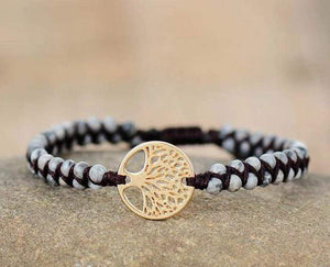 The Woven Tree of Life Gemstone Bracelet - Soul Sound Spirited