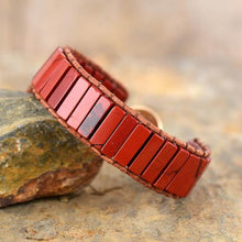 Load image into Gallery viewer, The Red Jasper Leather Wrap Bracelet - Soul Sound Baths