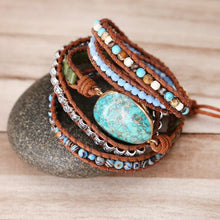 Load image into Gallery viewer, The Aquatic Turquoise Jasper Wrap Bracelet - Soul Sound Baths