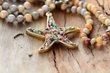 Load image into Gallery viewer, The Healing Gemstone Starfish Pendant Necklace - Soul Sound Spirited