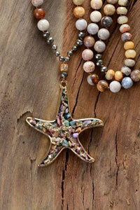 The Healing Gemstone Starfish Pendant Necklace - Soul Sound Spirited