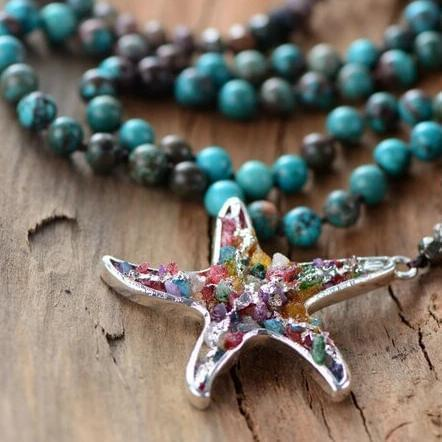 The Healing Gemstone Starfish Pendant Necklace - Soul Sound Baths