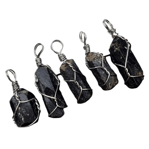 The Midnight Black Tourmaline Gemstone Pendant - Soul Sound Baths
